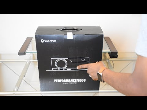 Vankyo Performance V600 1080P Projector Unboxing & Setup Very clear sharp Picture  #projector