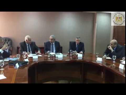 الوزير/طارق قابيل يعقد اجتماع موسع مع وزيرى النقل والتموين ورئيس اتحاد الغرف التجارية