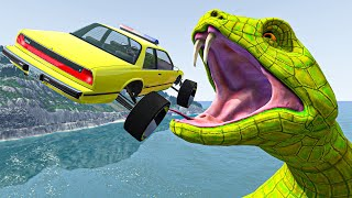 Incredible Cars Jumping with Giant Ramp #118 BeamNG.Drive Vehicles Jumps and Crashes Compilation