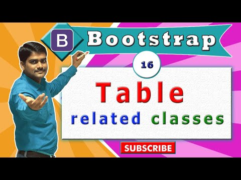 Bootstrap Tutorial 16 - Bootstrap Table Related Classes | Bootstrap Tables