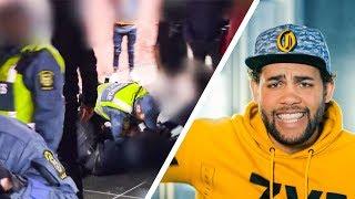 ORDNINGSVAKTEN BRYTER AV ARMEN MED BATONG! | STORYTIME