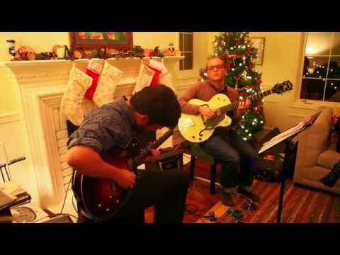 Me and my good friend Max performing in a cozy holiday setting.