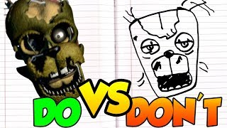 DOs & DON'Ts   Drawing Five Nights At Freddy's SCRAPTRAP from 6 FFPS In 1 Minute CHALLENGE!