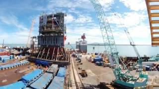 360° VR Timelapse_Offshore Platform Fabrication in Vietnam