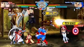 MUGEN: Crossover Evolution #120 -Team Cloud vs Team Captain America (4v4 Simul battle)