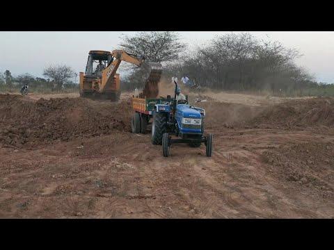 sonalika di 47 RX tractor fully leaded/by JCB machine help/sonalika tractor stunt video