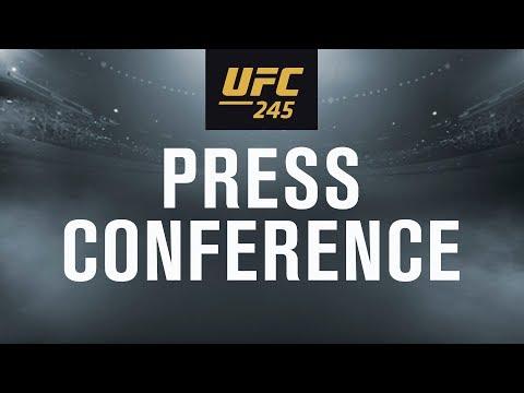 La conférence de presse avant combat de l'UFC 245: Usman vs. Covington