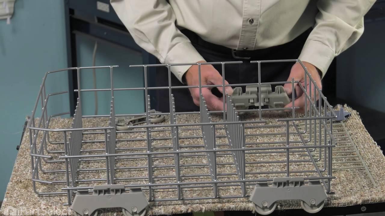 Replacing your KitchenAid Dishwasher Lower Dishrack