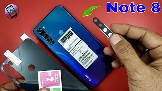 Redmi Note 8 Back Glass With Camera Lens Protector Review