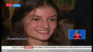 CUTS FOR CURE: Two ladies shave their hair in support for cancer patients