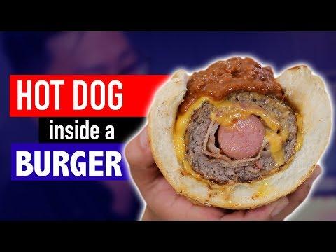 HOT DOG INSIDE A BURGER - VERSUS