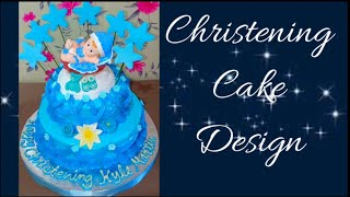 BOILED ICING CHRISTENING CAKE