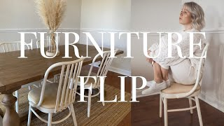 Furniture Flip | Chalk Painted Vintage Dining Chairs