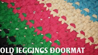 Gambar cover Doormat from old leggings old clothes reuse