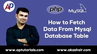 How to Fetch Data From Mysql Database Table in PHP    PHP Mysql Database Tutorial in Hindi