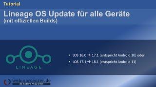 Tutorial: Update von Lineage OS 14.1 auf 15.1 auf allen offiziell unterstützten Geräten [Deutsch]