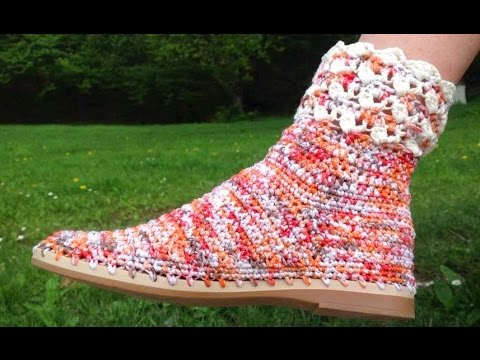 How To Crochet Summer Shoes + Where To Buy Soles