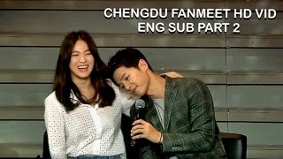 [ENG SUB] Song Joong Ki & Song Hye Kyo Fan Meeting in Chengdu Part 2 (Sweetest moments) HD
