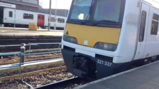 Trains at: Southend Victoria, Shenfield-Southend Line, 21/1/17