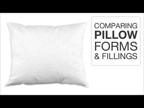 Comparing Pillow Forms & Fillings