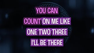 Bruno Mars – Count On Me (Karaoke Version)