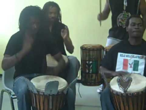 TRA BI LIZIE African Djembe Drumming 6 featuring BOLO BOLO BLAUWEH