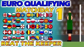 Beat The Keeper - UEFA Euro 2020 Qualifying Matchday 1