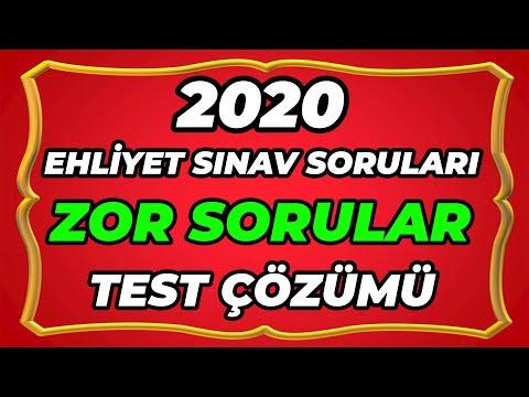 ZOR SORULAR EHLİYET SINAV SORULARI - 2020 EHLİYET SINAV SORULARI