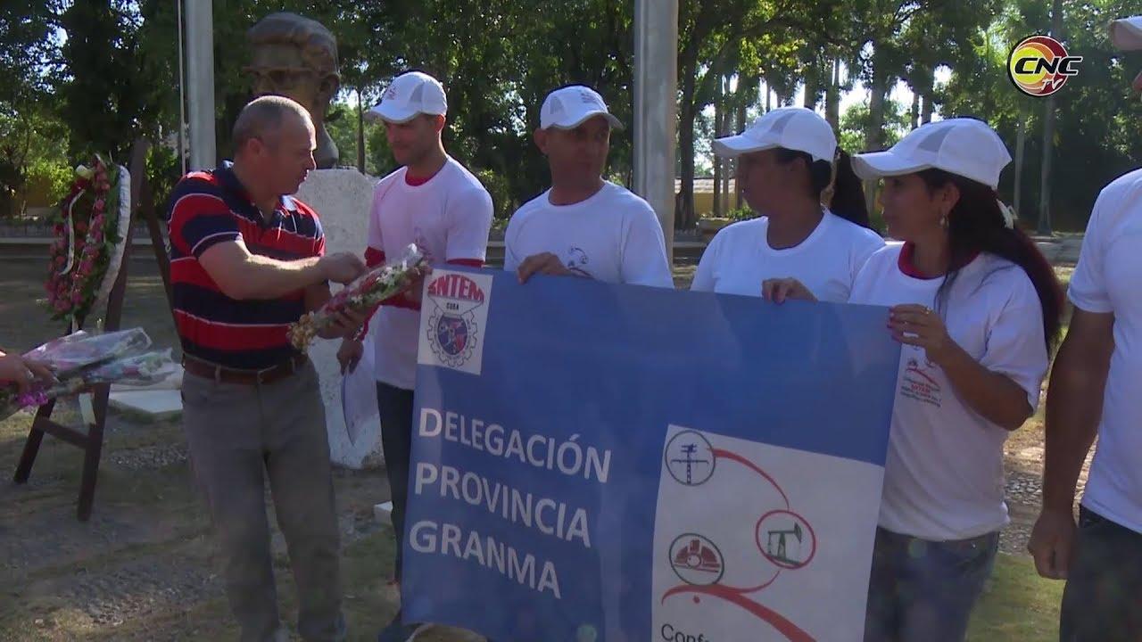 Abanderan delegación de Granma a segunda Conferencia Nacional del Sindicato de Energía y Minas