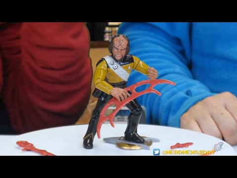Lt. Cmdr. Worf from Playmates Star Trek: TNG Series 1 Figure Review - TREKBACK TUESDAY