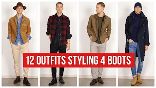 12 Ways To Style Boots This Fall | Men's Chelsea, Combat, And Jodhpur Boots | Outfit Ideas