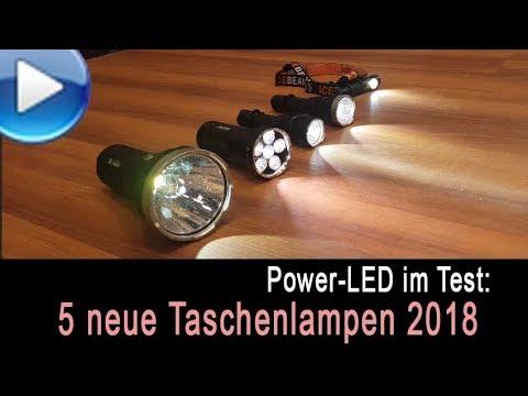5 neue LED-Taschenlampen im Test 2018