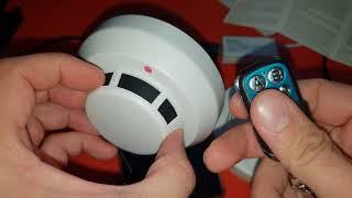 unauffällig Räume ausspionieren und Überwachen ? Sicherheits Rauchmelderkamera 1080p HD Nachtsicht
