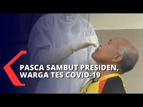 Berkerumun Sambut Presiden, Warga Dites Corona