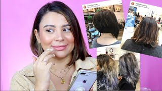 REACTING TO MY WORK FROM BEAUTY SCHOOL | MY FIRST CLIENTS EVER!