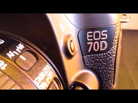 Canon EOS 70D (W) EF-S 18-55mm STM lens kit 'Hands On' unboxing camera review