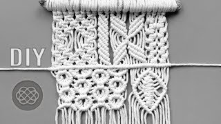 6 PATTERNS AND KNOTS FOR YOUR MACRAME PROJECTS