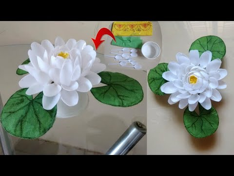 Diy Lotus Flower Waste Material Reuse Idea Plastic Spoon Craft Idea