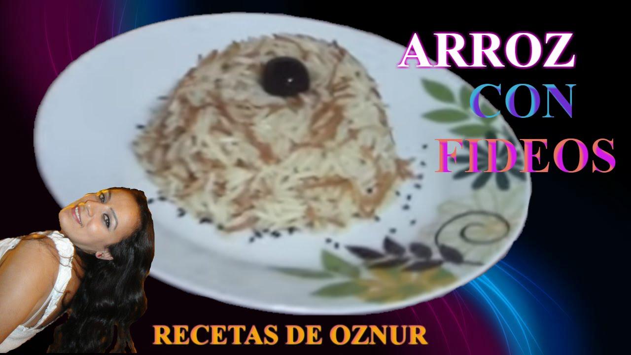 ARROZ CON FIDEOS | recetas de cocina faciles rapidas y economicas de hacer - comidas ricas