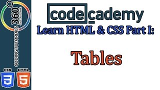 Tables: Learn HTML and CSS Part I CodeCademy