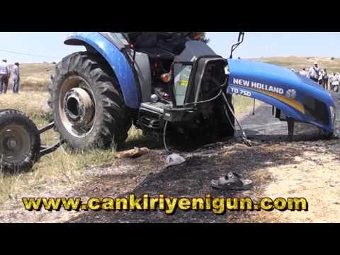 Çankırı Alaçat köyü yolunda feci kaza