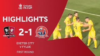 Hartridge Winner Sends Exeter City Through | Exeter City 2-1 AFC Fylde | Emirates FA Cup 2020-21