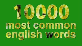 10000 most common english words - part 1