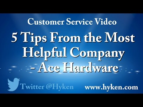 , title : '5 Customer Service Training Tips from Ace Hardware