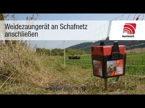 Schafzaun - Weidezaungerät anschließen (Schafnetz)