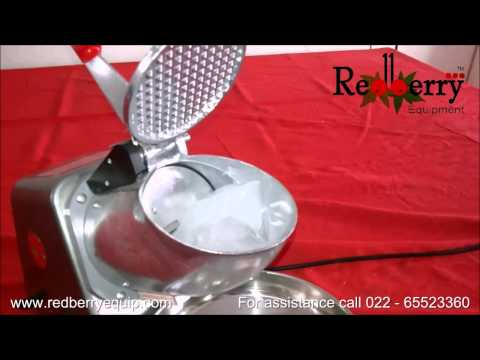 Ice Crusher Demo India: For Fast Food & Snacks Corner