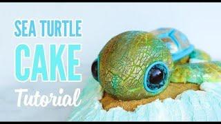 Sea Turtle Cake Tutorial - Sugar Geek Show
