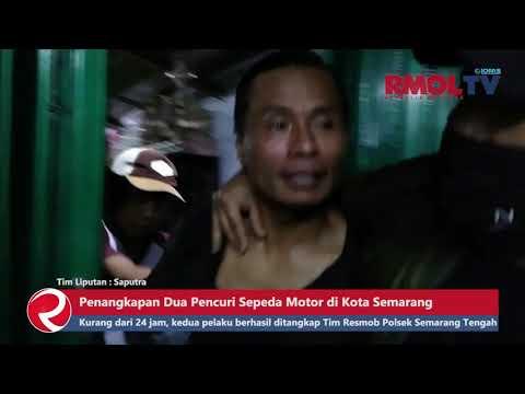 Detik detik Penangkapan Dua Pencuri Sepeda Motor di Kota Semarang