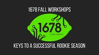 2016 Fall Workshops - Keys to a Successful Rookie Season