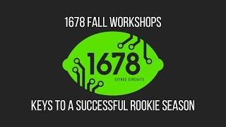 2016 Fall Workshops - Keys to a Successful Rookie Season